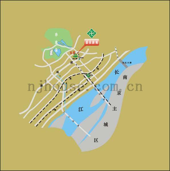盛泉新城交通图