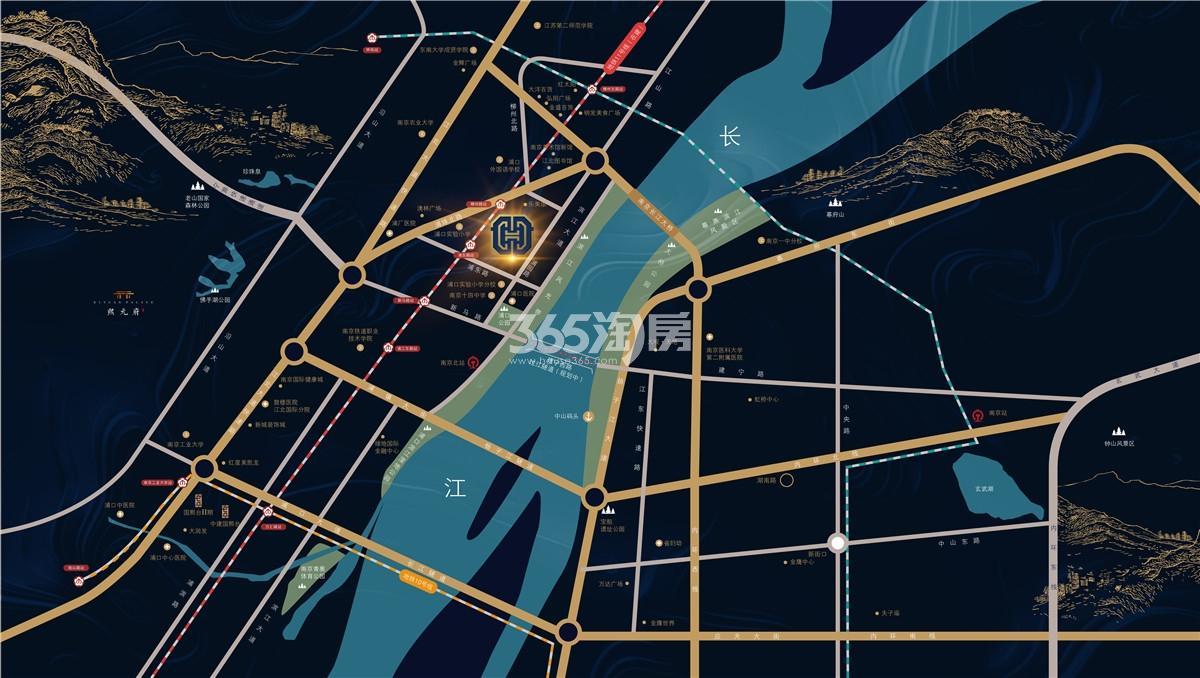 中建国熙公馆交通图