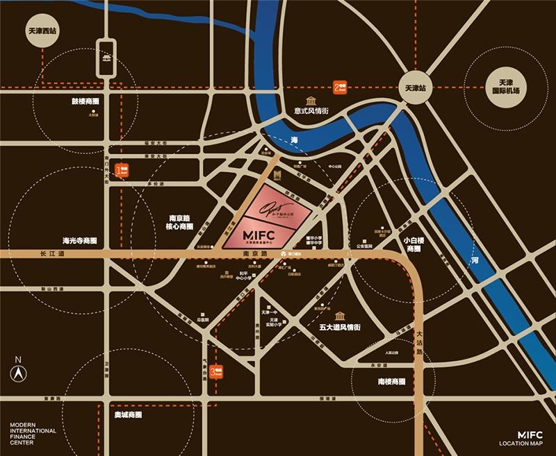 和平翰林公馆交通图