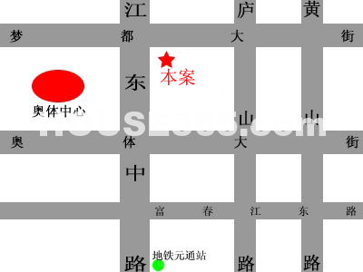 雨润国际广场中央公馆交通图