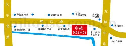 卓越SOHO交通图