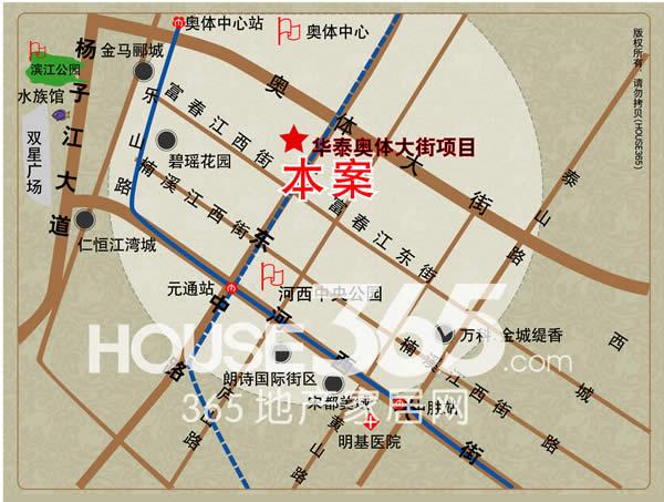 华泰证券总部大楼交通图