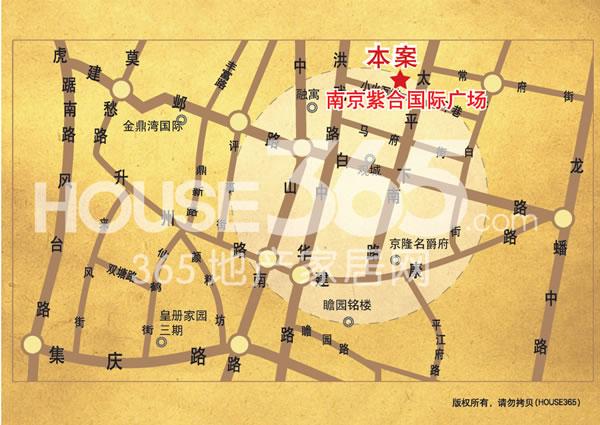 南京紫合国际广场交通图
