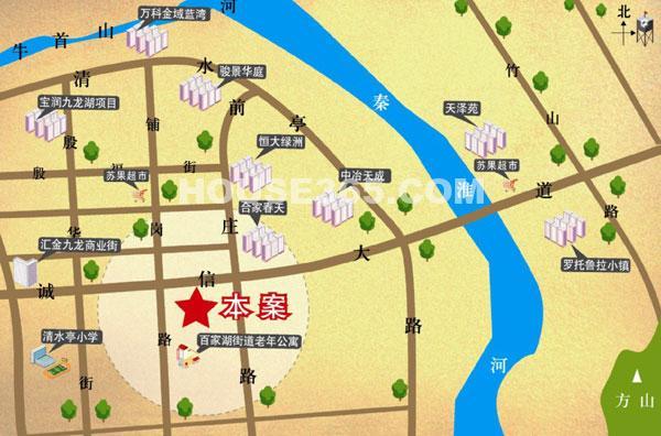 UCT优尚天地广场交通图