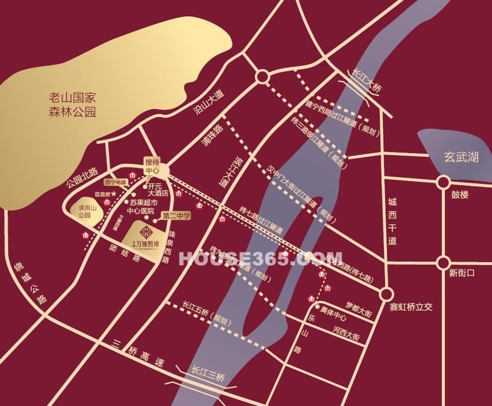 中海万锦熙岸交通图