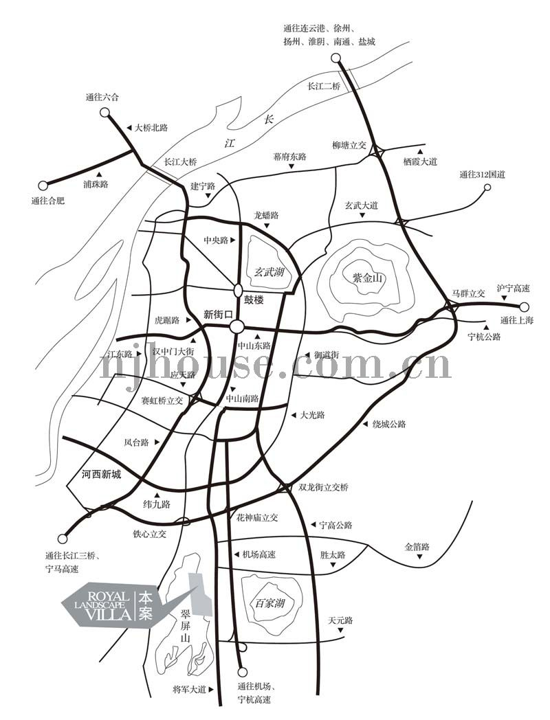 翠屏新天地交通图