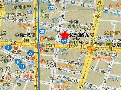 长江路九号交通图