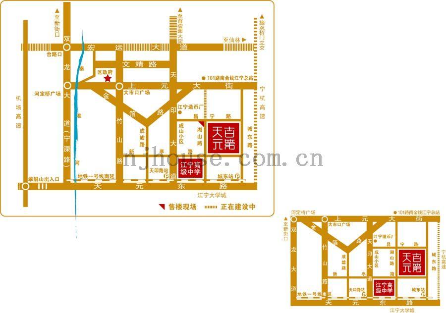 天元吉第城交通图
