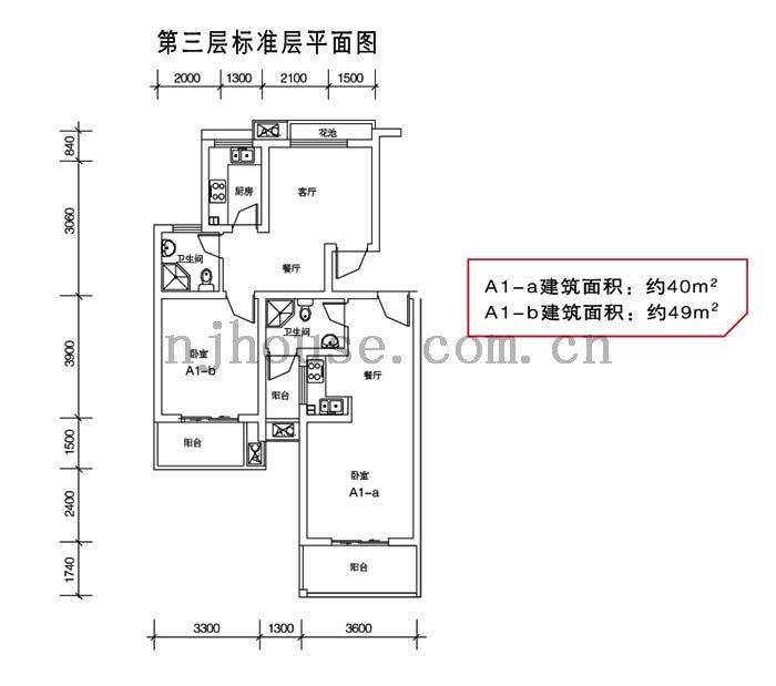 天元吉第城户型图