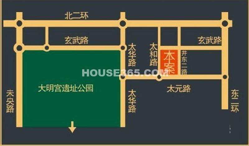 唐樾六和坊交通图