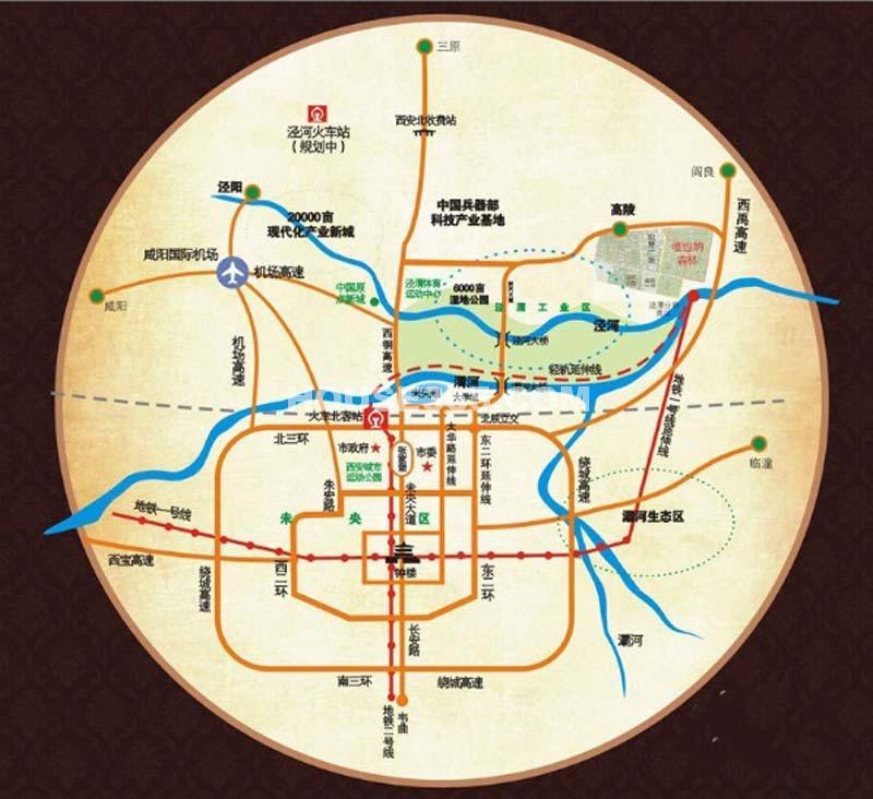 维也纳森林交通图