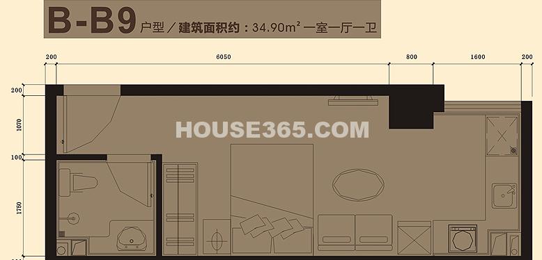 小寨金莎B-B9户型图