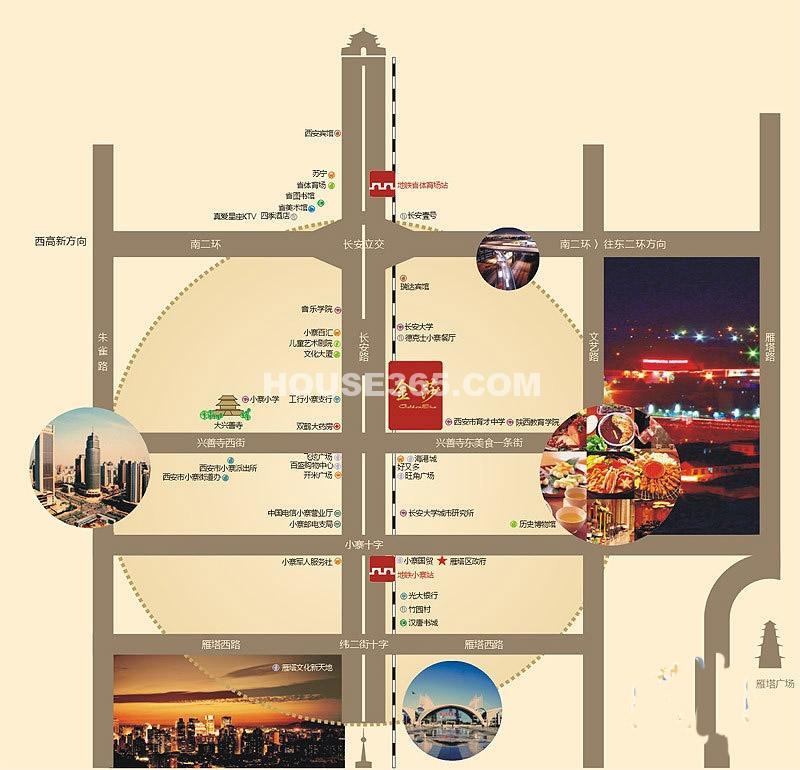 小寨金莎交通图