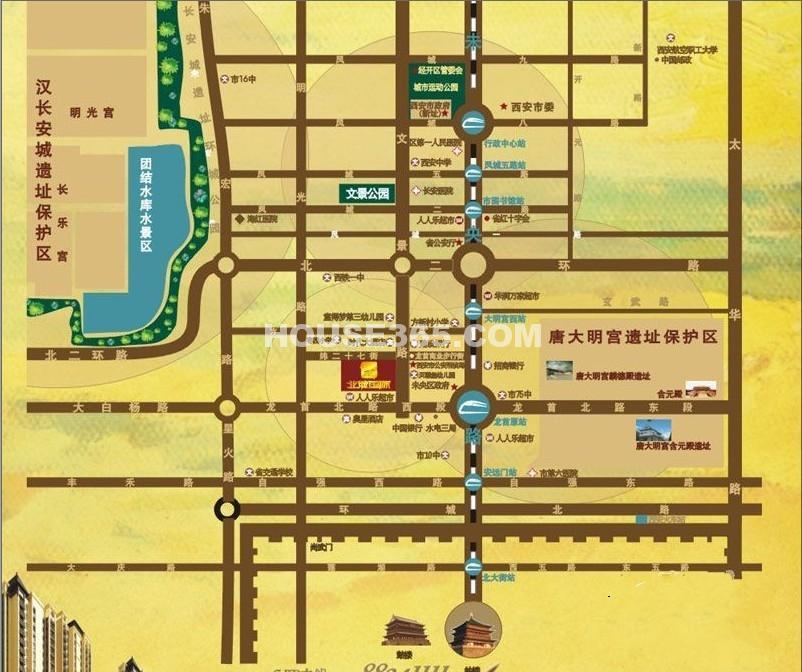 新一代北城国际交通图