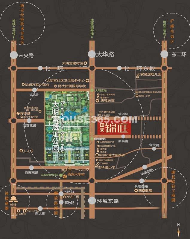 中天锦庭二期交通图