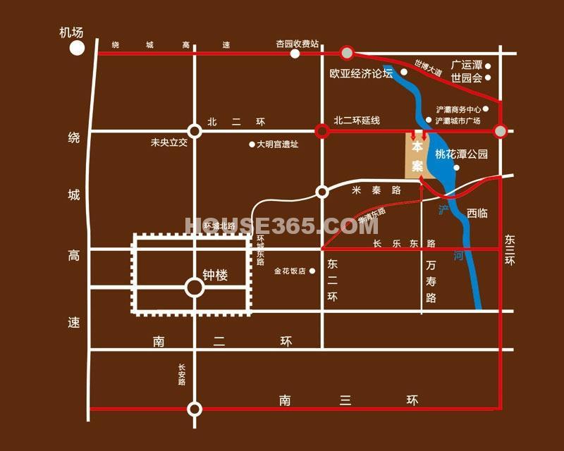 纳帕溪谷金源交通图