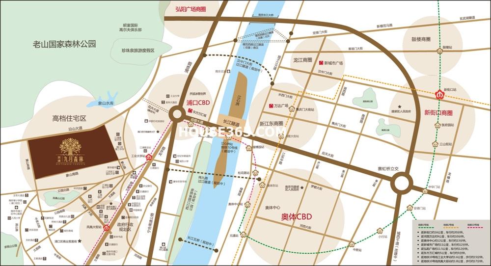 金基九月森林交通图