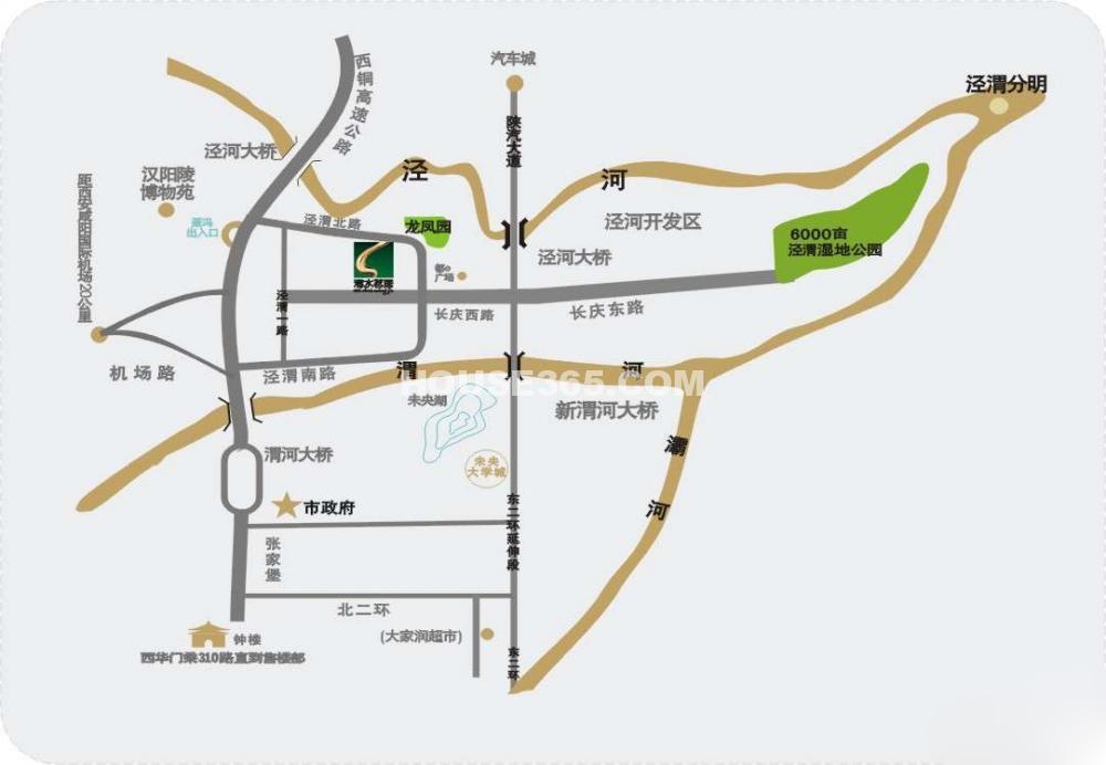渭水茗居交通图