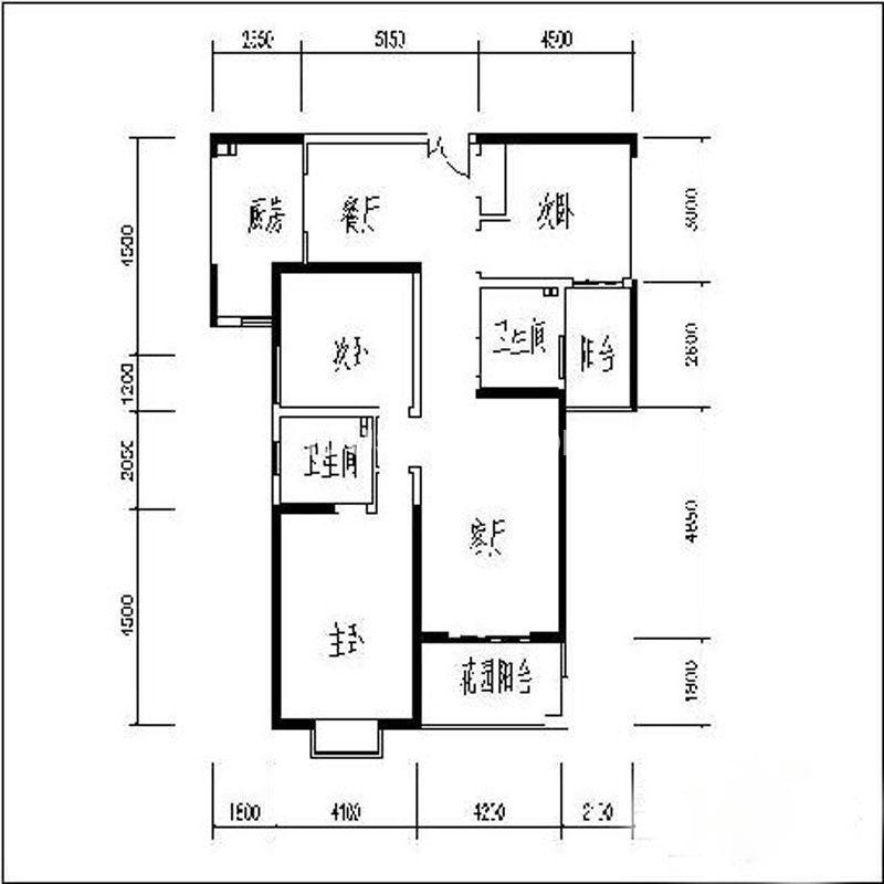 曲江观山悦户型图3室2厅2卫1厨 140.44㎡