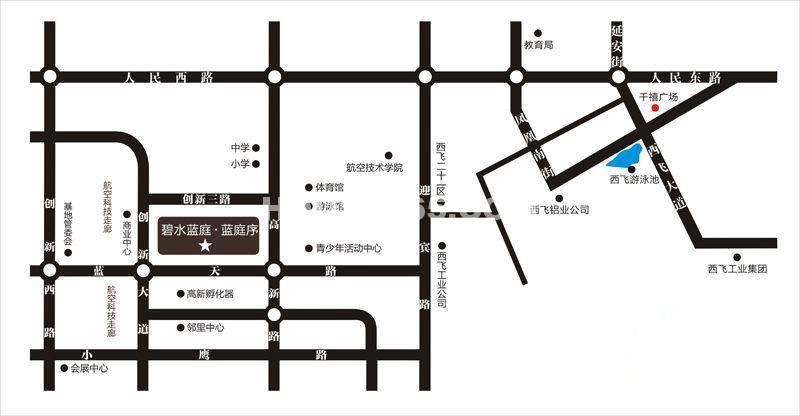 荣华碧水蓝庭交通图