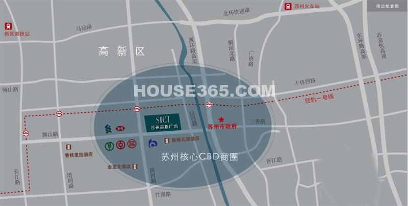 苏州高新广场交通图