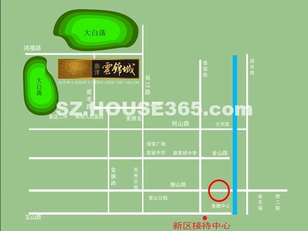 惠泽云锦城交通图