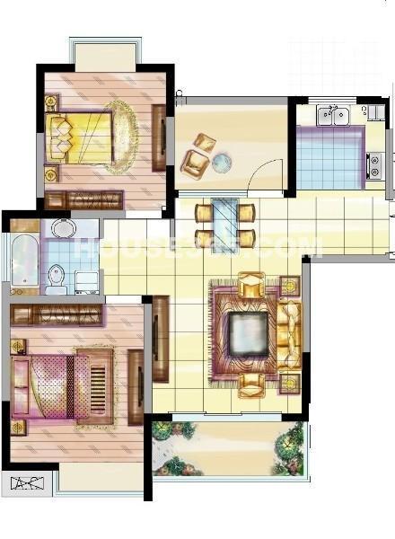 二期 2房2厅1卫 89㎡