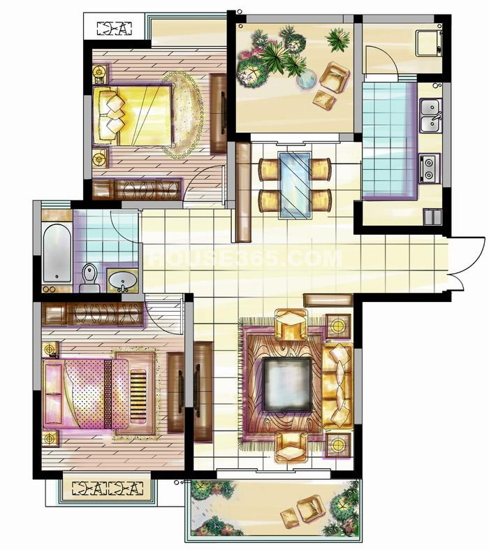 二期 2房2厅1卫 106㎡