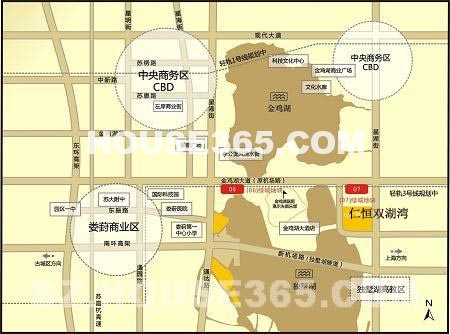 仁恒双湖湾交通图