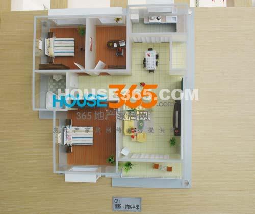 春申景城C3模型  三房两厅一卫 约99平米