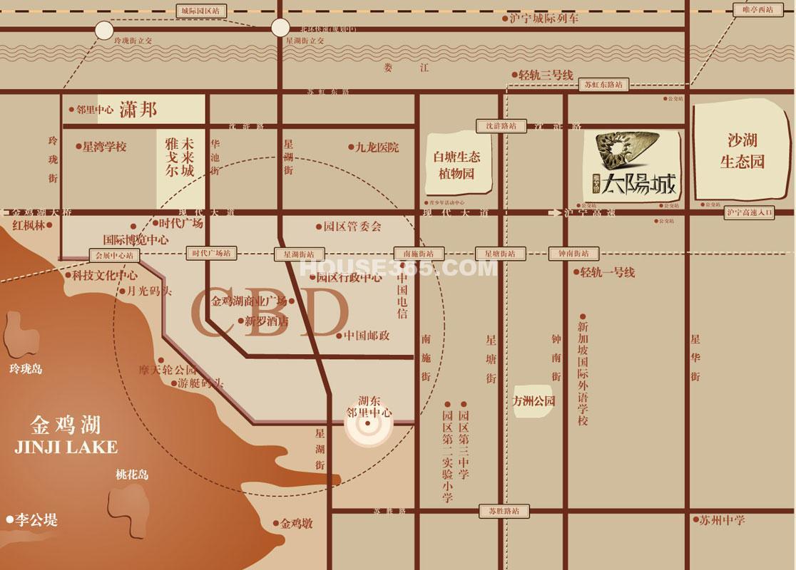 雅戈尔太阳城交通图