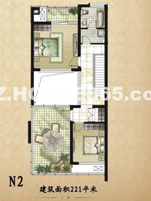 建筑面积221平米别墅户型图