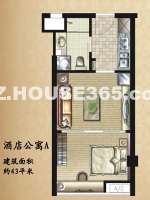 酒店式公寓户型图
