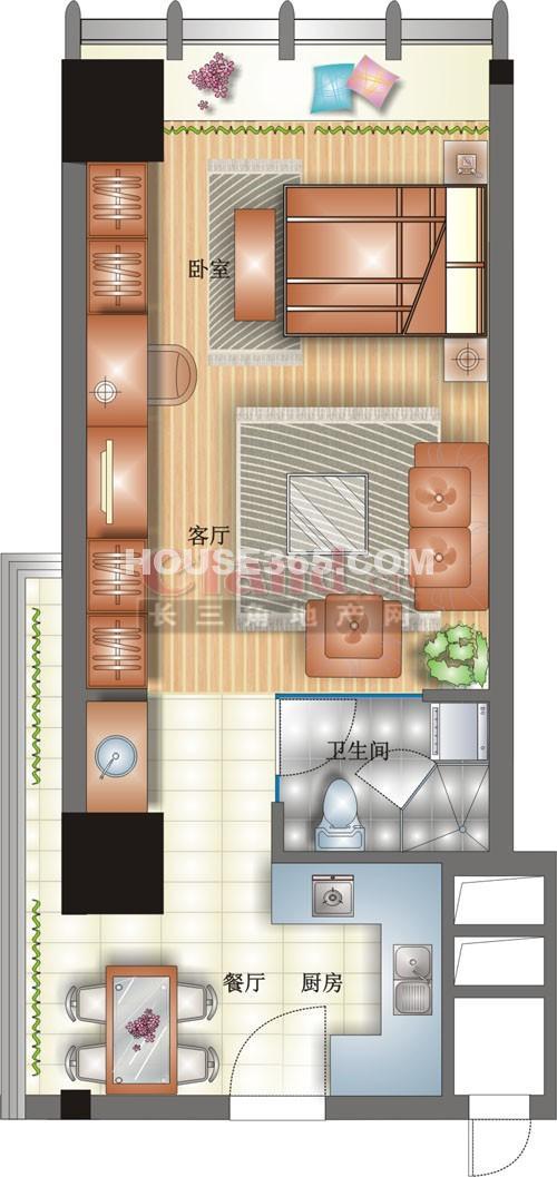 万亚MOHO维多利亚公寓户型图