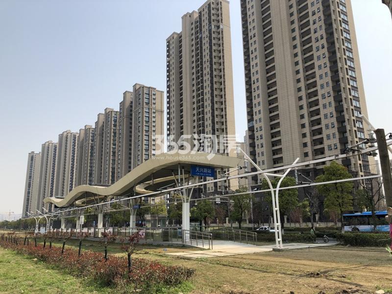 启迪方洲周边有轨电车站点实景图(4.27)