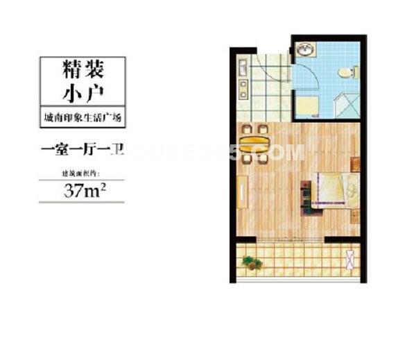 精装小户 一室一厅一卫  37m2