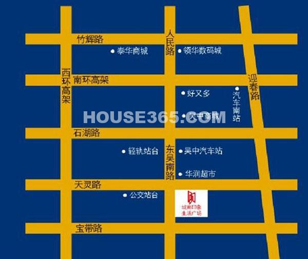城南印象生活广场交通图