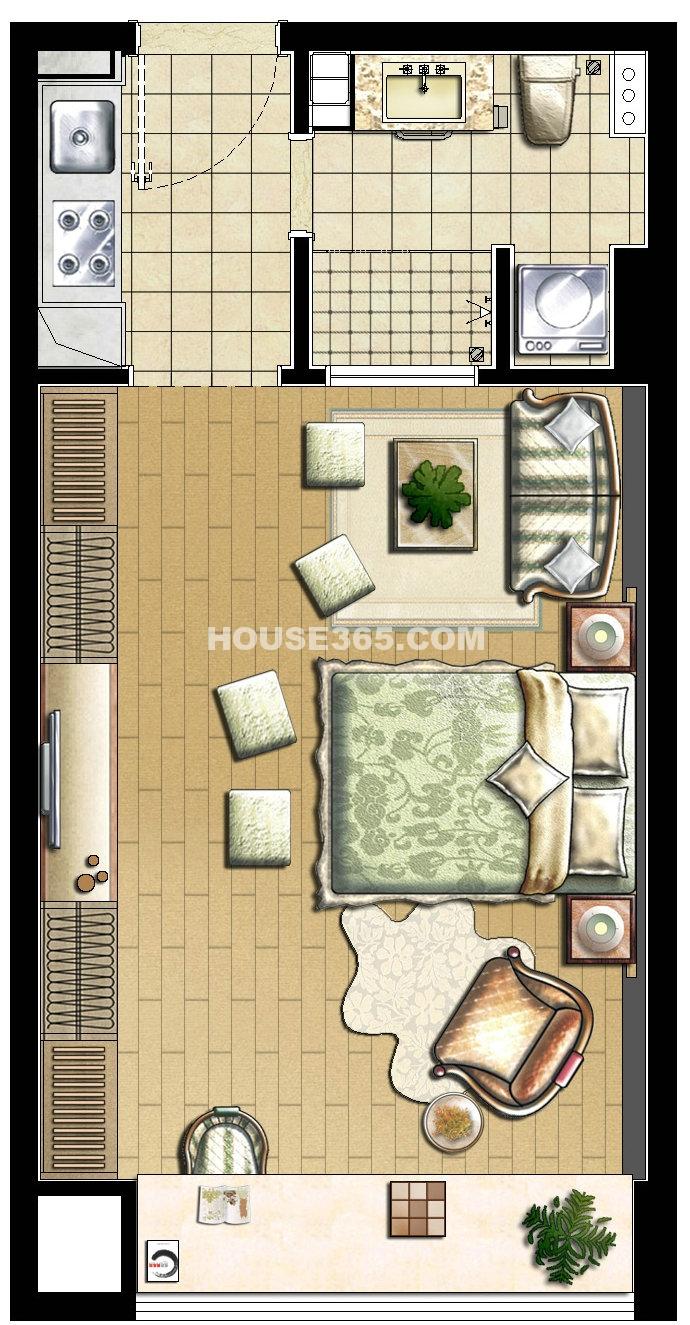 A户型1室1厅1卫
