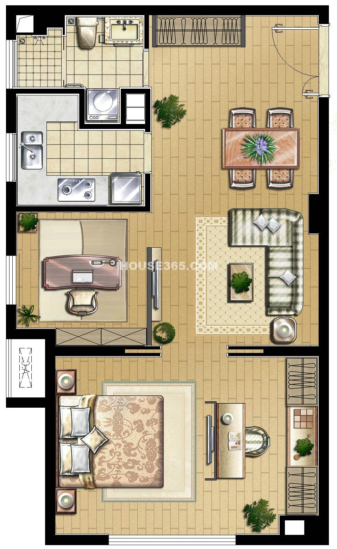 B户型2室2厅1卫
