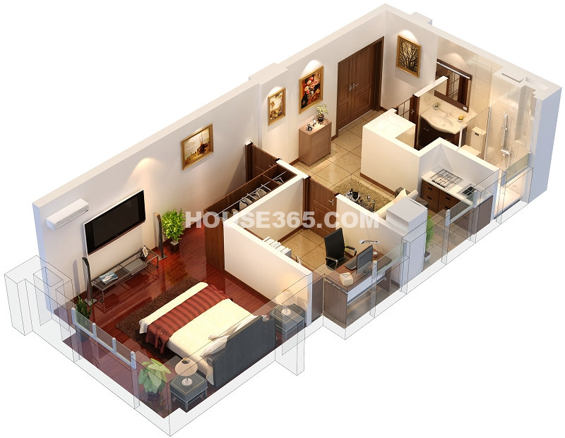 D1户型住宅