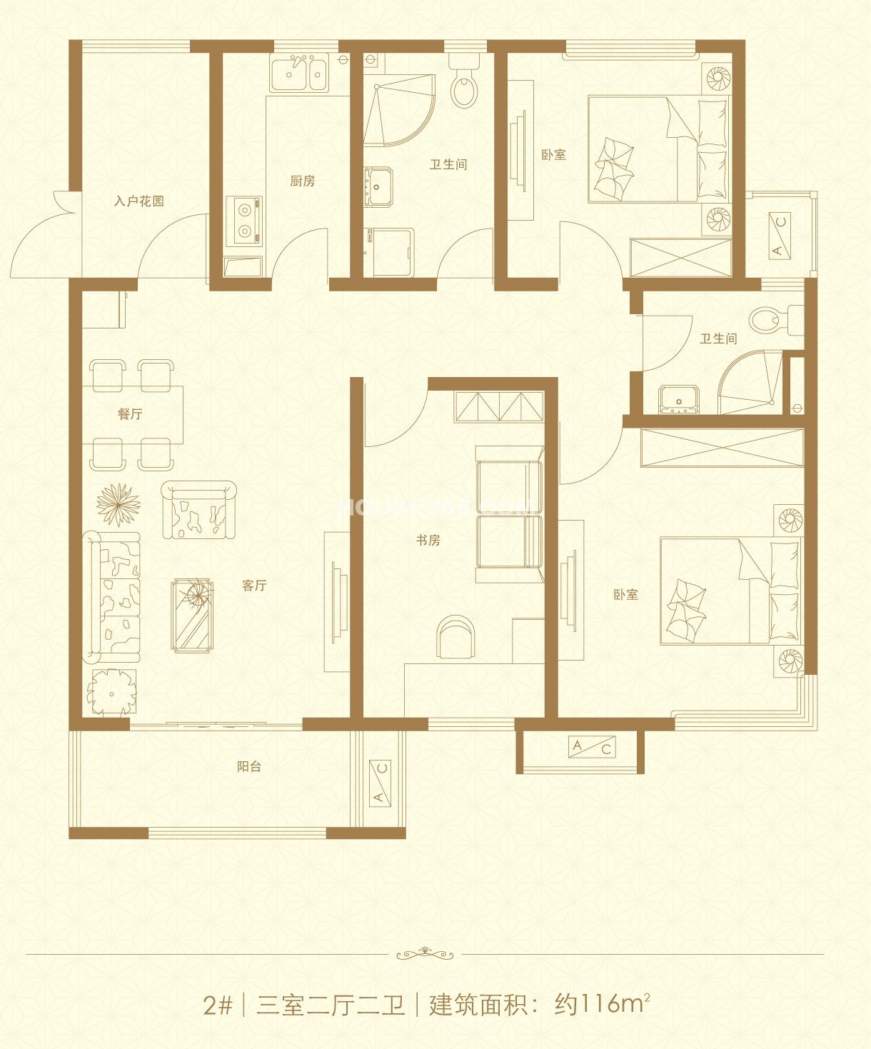 三室两厅两卫116