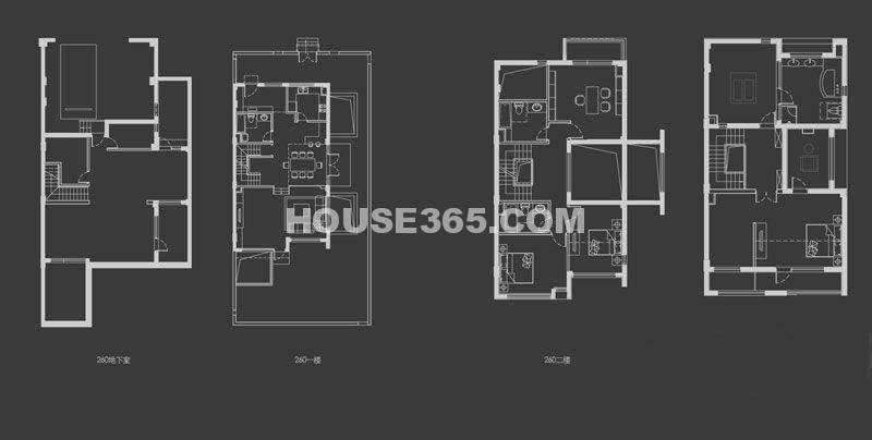 万科新都会D户型6室3厅3卫1厨 260.00㎡