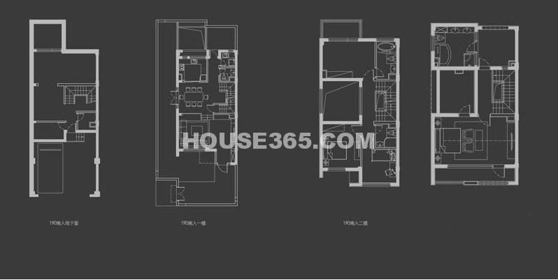 万科新都会C1户型4室2厅3卫1厨 190.00㎡