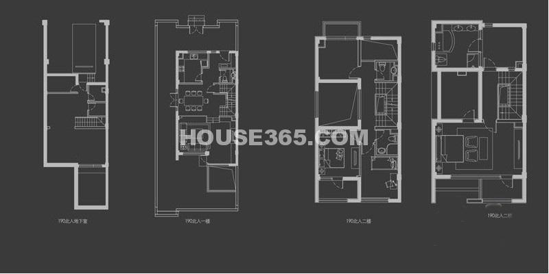 万科新都会C2户型4室3厅2卫1厨 190.00㎡
