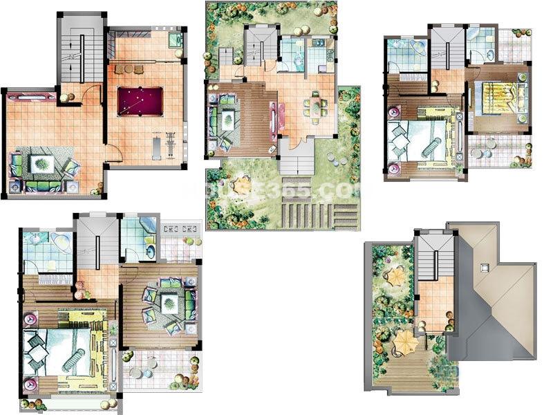 珠江首府别墅6-101户型4室2厅3卫1厨300.00㎡