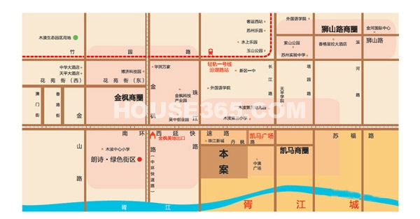 珠江首府交通图