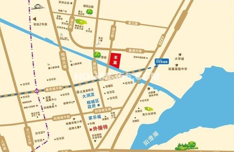 红鼎湾花园交通图