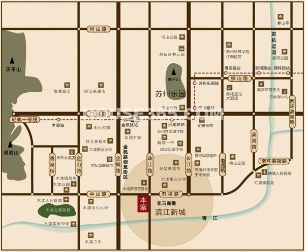 苏州方圆云山诗意交通图