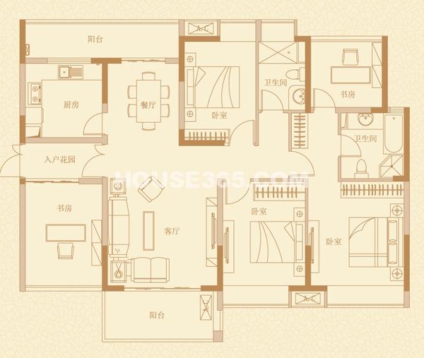 四室两厅两卫131㎡