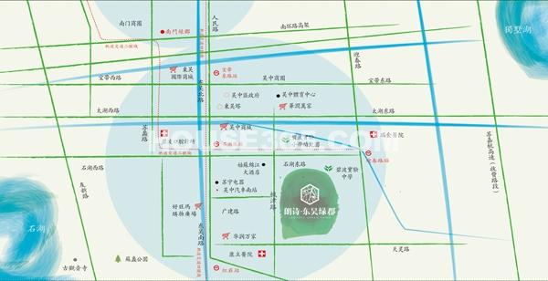 朗诗东吴绿郡交通图